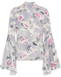 Co. Floral-printed Silk Top - Multicolor