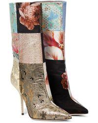 Dolce & Gabbana Patchwork Ankle Boots - Multicolour