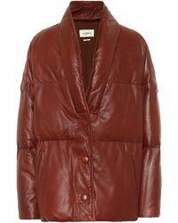 Étoile Isabel Marant Carterae Leather Puffer Jacket - Brown