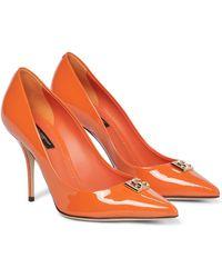 Dolce & Gabbana Salones DG de charol - Naranja
