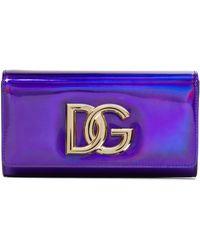 Dolce & Gabbana Clutch Strobo 3.5 aus Leder - Lila