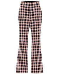 Gucci Karierte Hose aus Tweed - Pink