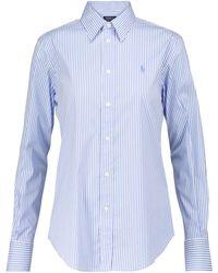 Polo Ralph Lauren Camisa en mezcla de algodón - Azul