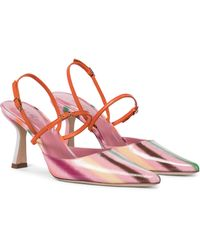 BY FAR Pumps slingback in vernice - Rosa