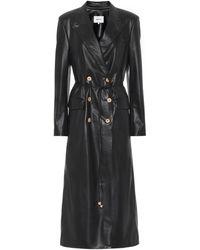 Nanushka Manila Faux-leather Coat - Black