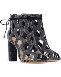 Alexandre Birman New Loreta 90 Ankle Boots - Metallic