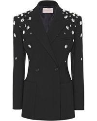 Christopher Kane Crystal-embellished Blazer - Black