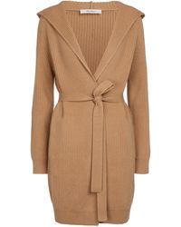Max Mara Achille Wool And Cashmere Cardigan - Natural