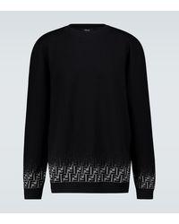 Fendi Ff Degraded Knitted Jumper - Black