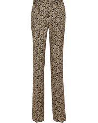 Etro Pantalones rectos en jacquard paisley - Metálico