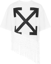 Off-White c/o Virgil Abloh T-shirt in cotone con stampa - Bianco