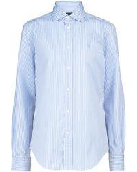 Polo Ralph Lauren Gestreiftes Hemd aus Baumwolle - Weiß