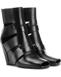 Rick Owens - Lazarus Cutout Leather Ankle Boots - Lyst