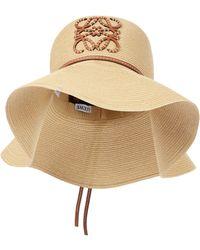 Loewe Paula's Ibiza sombrero de paja y piel - Neutro