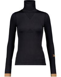 Reebok X Victoria Beckham Technical-jersey Turtleneck Top - Black