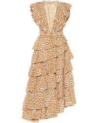Ulla Johnson Viola Cheetah-print Midi Dress - Multicolour