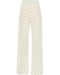 Valentino Hose aus Seide - Weiß