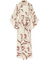 Johanna Ortiz Soul Quest Floral Linen Dress - Natural