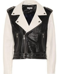 Ganni Heavy Grain Leather Biker Jacket - Black