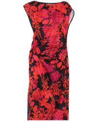 Dries Van Noten Floral Cotton-blend Midi Dress - Red