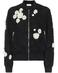 RED Valentino Guipure-lace Bomber Jacket - Multicolour