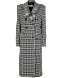 Alexandre Vauthier Houndstooth Wool And Cashmere Coat - Black