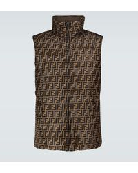 Fendi Reversible Quilted Gilet - Brown