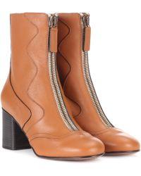 Chloé Exklusiv bei Mytheresa – Stiefel aus Leder - Braun