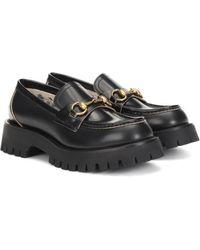 Gucci Loafers Horsebit aus Leder - Schwarz