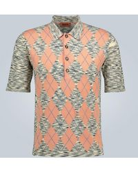 Missoni Short-sleeved Knitted Polo Shirt - Multicolor