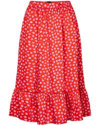 Marc Jacobs - The Ruffle Heart-print Midi Skirt - Lyst