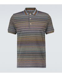 Missoni Kurzärmliges Poloshirt aus Baumwolle - Blau