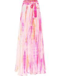 Anna Kosturova Exclusive To Mytheresa – Tie-dye Silk Blouse - Pink