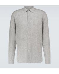 Orlebar Brown Camicia Giles in lino - Grigio