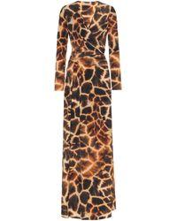 Roberto Cavalli Animal-print Stretch-jersey Dress - Metallic