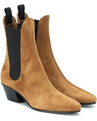 Khaite Ankle Boots Saratoga - Braun