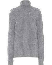 Maison Margiela Jersey de lana de cuello alto - Gris