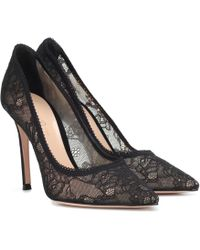 Gianvito Rossi - Liliane Lace Court Shoes - Lyst