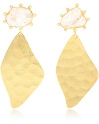 Peet Dullaert Nahla 14kt And 24kt Gold-plated Earrings With Pearls - Metallic