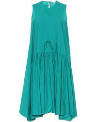 Delpozo Cotton Swing Dress - Gray