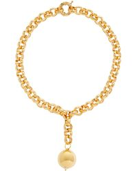 Timeless Pearly 24kt Gold-plated Pendant Necklace - Metallic