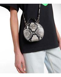 Balenciaga Schultertasche Vanity Mini aus Leder - Schwarz