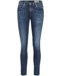 AG Jeans Skinny Jeans The Legging Ankle - Blau
