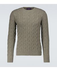 Ralph Lauren Purple Label Cable-knitted Cashmere Jumper - Green