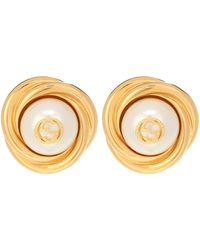 Gucci Interlocking G Clip-on Earrings - Metallic