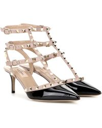 21e53e376f88 Valentino - Rockstud Studded Patent Leather Pumps - Lyst