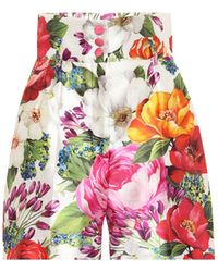 Dolce & Gabbana Bedruckte Shorts aus Seide - Mehrfarbig