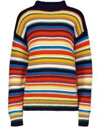 Victoria, Victoria Beckham Jersey de algodón a rayas - Multicolor