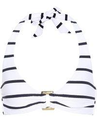 Heidi Klein Core Nautical Bikini Top - White
