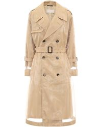 Maison Margiela Pvc-wrapped Cotton Trench Coat - Natural